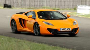 McLaren 12C on track front