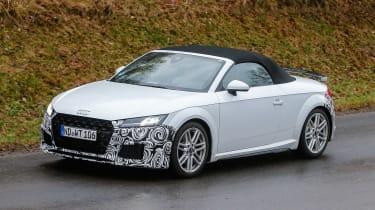 Audi TT spy - roadster front