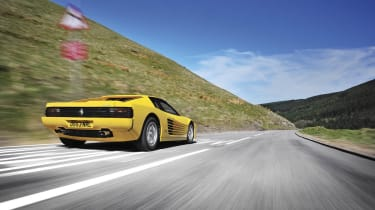 evo Magazine: August 2013 yellow Ferrari Testarossa