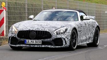 Mercedes-AMG GT R roadster spy - front quarter