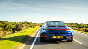 Porsche 911 Carrera S manual blue - rear tracking 2