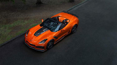 Chevrolet Corvette ZR1 convertible – top shot