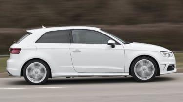 2013 Audi S3 white side profile