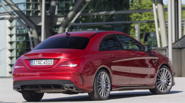 2013 Mercedes CLA45 AMG red rear