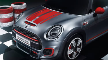 New Mini John Cooper Works Concept bonnet stripes