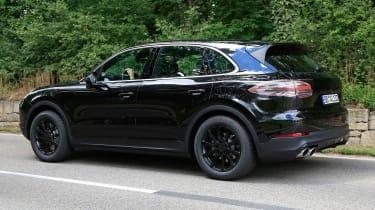 Porsche Cayenne spy shot rear
