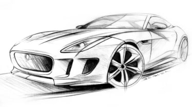 Jaguar C-X16 design sketches