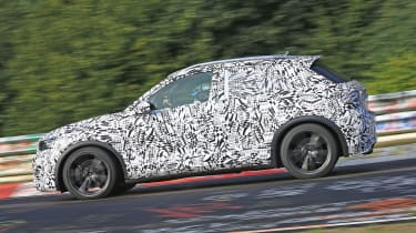 Volkswagen T-Roc R prototype testing at the Nürburgring - side