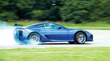 Lexus LFA blue drift