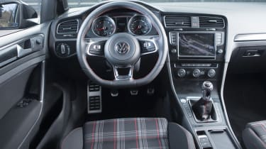 2013 mk7 VW Golf GTI tartan interior steering wheel golf ball gearknob
