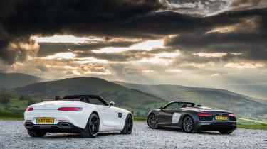 Mercedes-AMG GT Roadster and Audi R8 Spyder