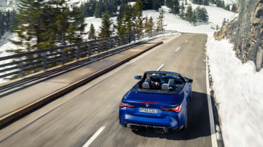 BMW M4 Competition Convertible –rear quarter top
