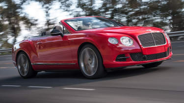 2013 Bentley Continental GT Speed Convertible red front
