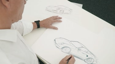 Porsche Classic project gold sketch