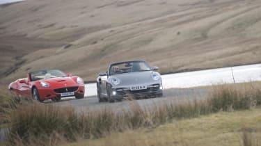 Ferrari chases Porsche