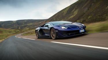 Lamborghini Aventador SVJ - front tracking
