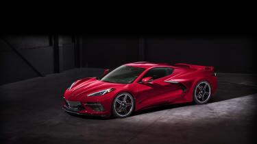 2020 Chevrolet Corvette C8 front three quarters low