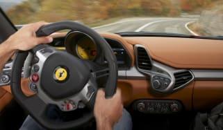 Ferrari trials new steering technology