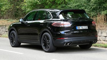 Porsche Cayenne spy shot rear 2