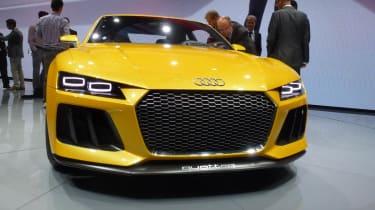 Audi Quattro concept: Frankfurt motor show 2013 yellow
