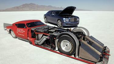 Mad Triumph GT6 meets Bentley Mulsanne