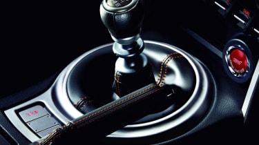 Subaru BRZ Premium Sport Edition gear stick stitching