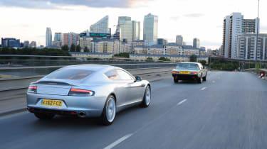 Aston Martin Rapide S v Aston Martin Lagonda rear