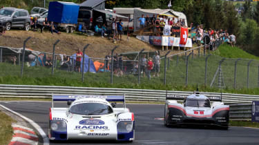 Porsche 919 Evo and Porsche 956 C
