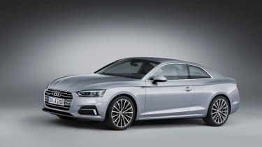 Audi A5 coupe silver - studio