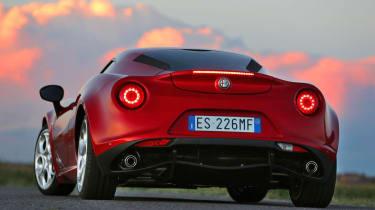 Alfa Romeo 4C red rear