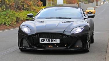 Aston Martin DBS Volante spy - OCT18  nose