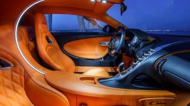 Bugatti Chiron black - interior