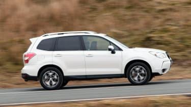 Subaru Forester XT petrol white side profile