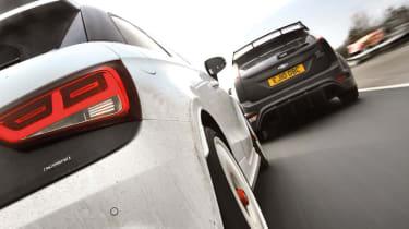 Audi A1 Quattro vs Mini JCW GP, Ford Focus RS500 and Renault Megane R26.R: On track