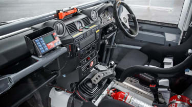Land Rover Defender Challenge dashboard