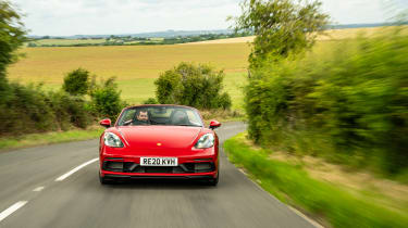 Porsche 718 Boxster GTS 4.0 PDK – front tracking