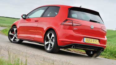 2013 VW Golf GTI mk7 red rear