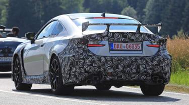 Lexus RC F GT spy - rear