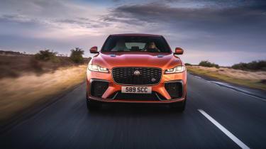 Jaguar F Pace SVR 2021 review - nose