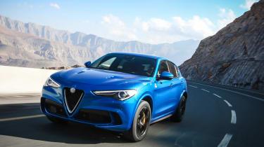 Alfa Romeo Stelvio QV drive - front dynamic