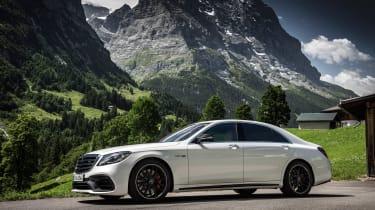 Mercedes S-class - front three quarter