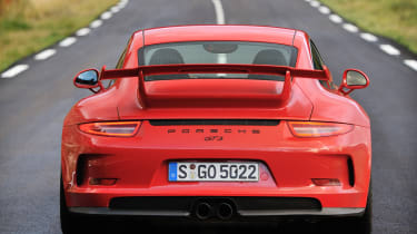 Porsche 911 GT3 2013 red rear view