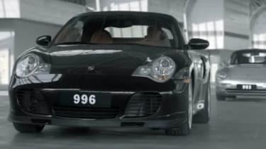 Porsche 911 50th birthday video black 996