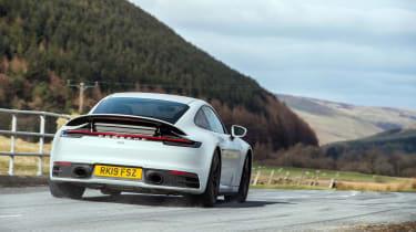 Porsche 911 Carrera S white rear