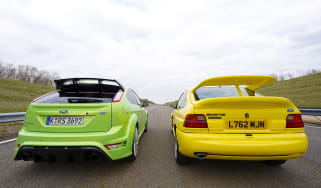 Ford Focus RS v Ford Escort Cosworth