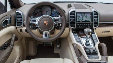 2013 Porsche Cayenne S Diesel interior dashboard steering wheel