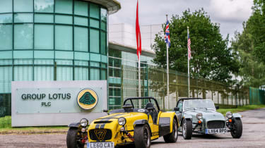 Caterham 160 and Caterham 620R - outside Lotus