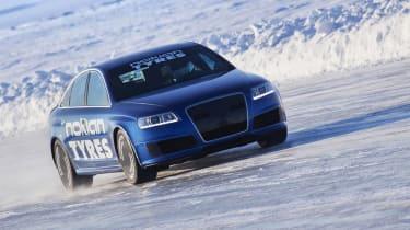 Audi RS6 breaks Bentley's ice speed record