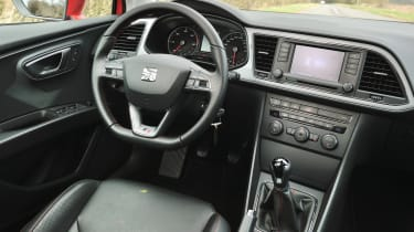 2013 SEAT Leon FR TDI 184 interior dashboard steering wheel