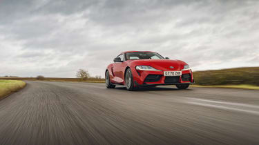 Toyota Supra 2.0 review - front tracking